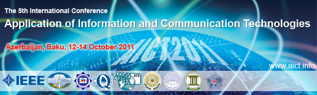 AICT2011 - The 5th International Conference on Application of Information and Communication Technologies