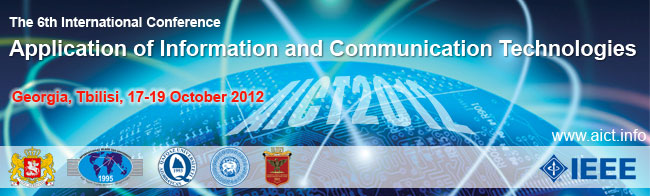 AICT2012 - The 6th International Conference on Application of Information and Communication Technologies