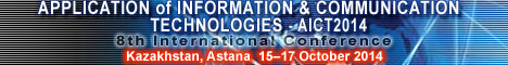 AICT2014 - The 8th International Conference on Application of Information and Communication Technologies