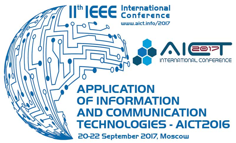 AICT2017 | 11th IEEE International Conference on Application of Information and Communication Technologies (AICT2017)